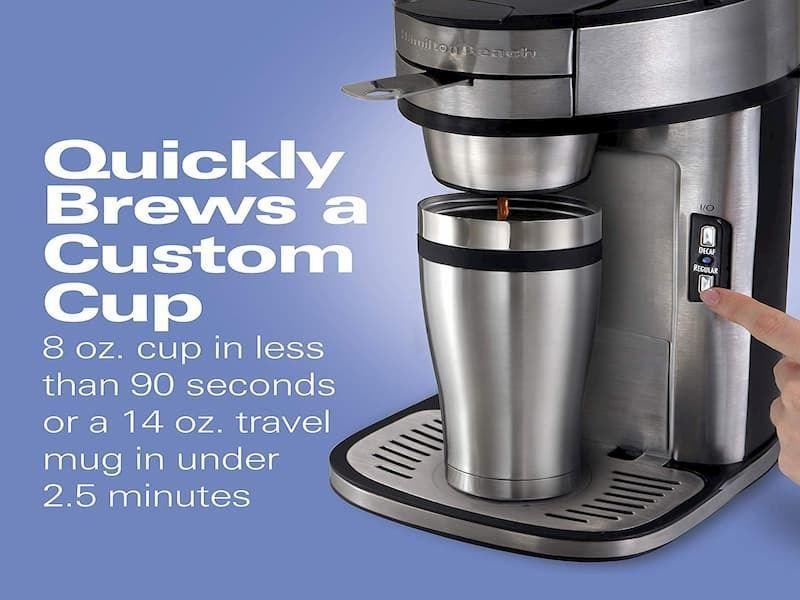 Hamilton Beach Coffee Maker Grind and Brew Single Serve header image