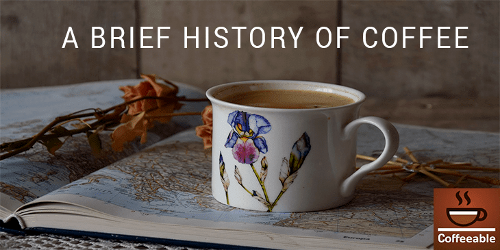 a beginner's guide to brief history of coffee banner image