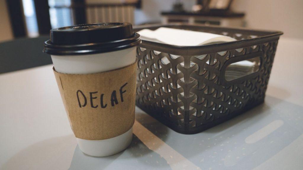 Make decaffeinated coffee make you jaw